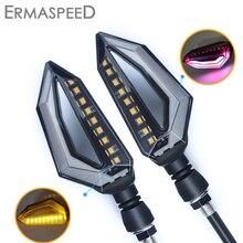 Universal Motorcycle Turn Signals Lights Flashing LED DRL Indicator Blinker Cafe Racer Lightings For Yamaha dt 125 fz6 xj6