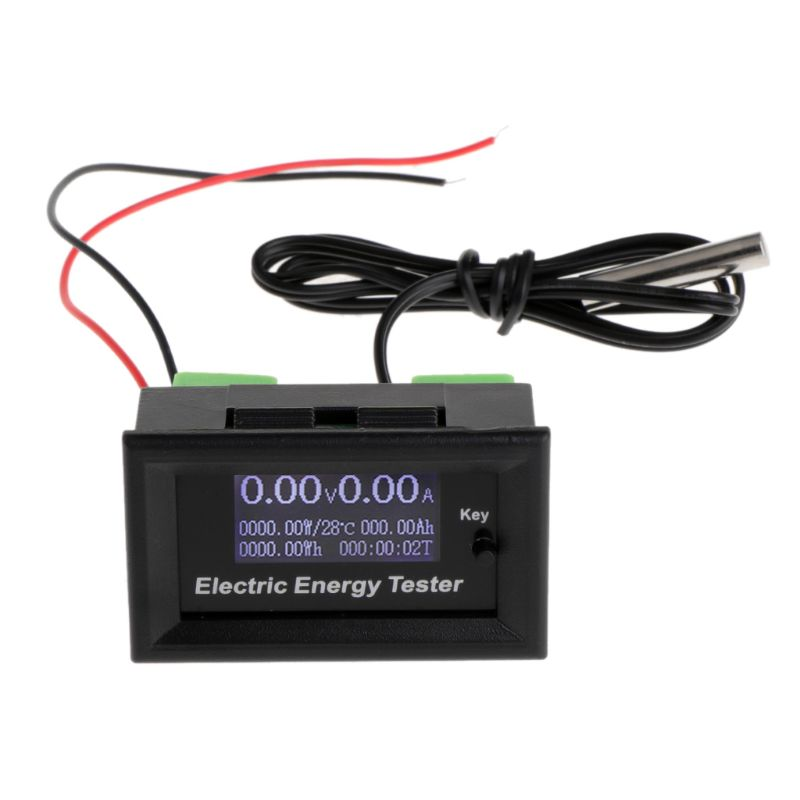 DC120V 20A Digital DC Voltmeter Current Voltage Meters LCD Energy Tester Charger Ammeter Battery Power Supply Capacity Detection