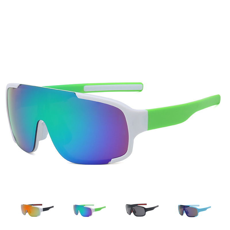 Cycling Eyewear Glasses Bike Goggles Outdoor Sports Sunglasses Big Lens Spectacles Reflective PC Explosion-proof Sunglasses