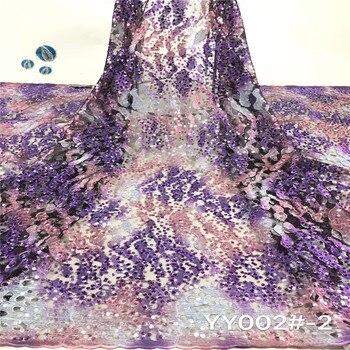 NaXiu Purple Sequin Lace Fabric 2020 High Quality African Sequence Lace Fabric Sequin Fabric Lace For Wedding Dress