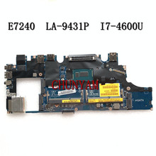 Mainboard E7240 I7-4600U Dell Latitude LA-9431P DDR3L NEW FOR Laptop I7-4600u/Cn-0wjwh8/Wjwh8/..