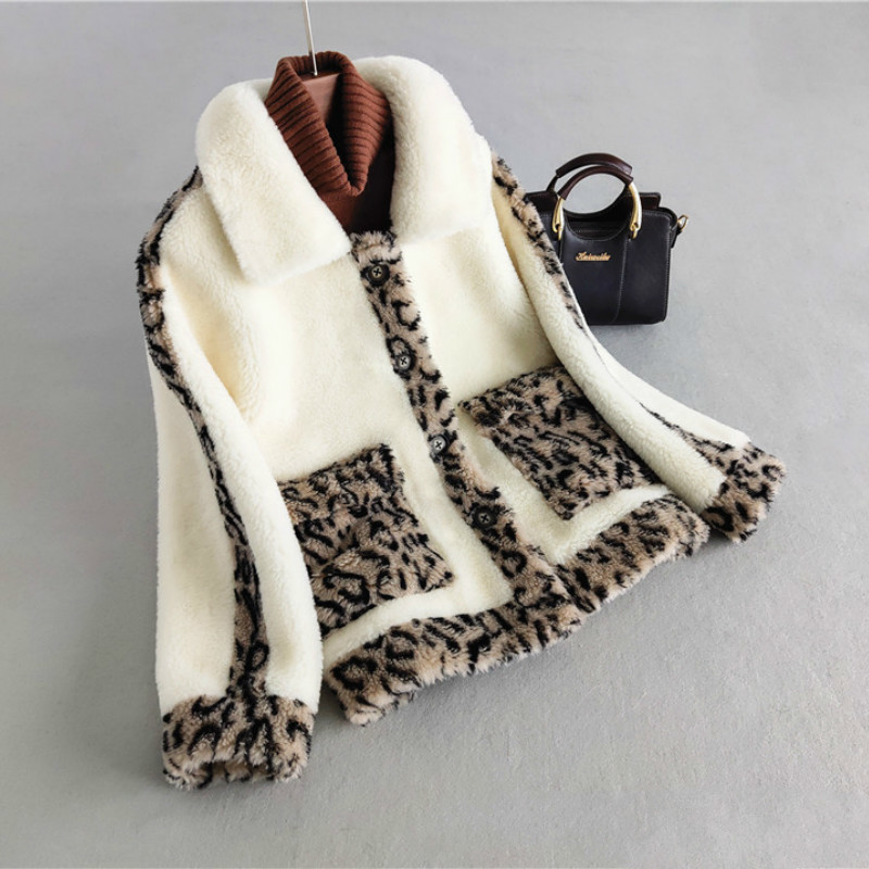 Real Fur Coat Wool Jacket Autumn Winter Coat Women Clothes 2020 Korean Vintage Sheep Shearling Streetwear Women Tops ZT3404