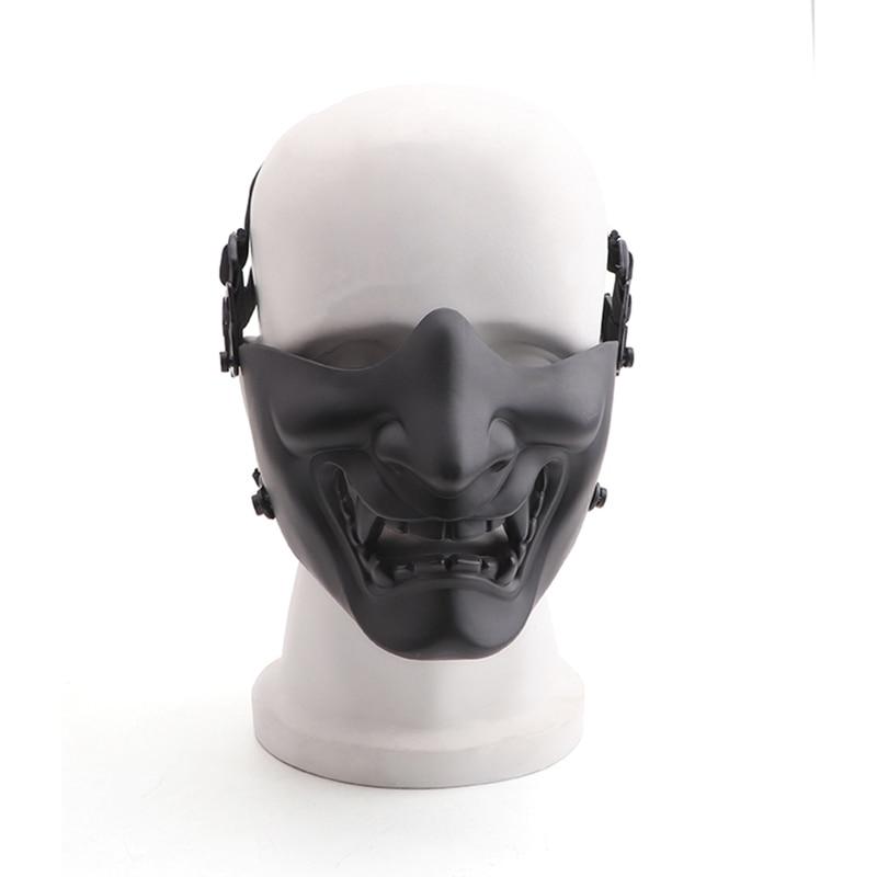 Новая полумаска для лица страйкбол костюм Хэллоуин косплей BB злой демон Кабуки самурайская полумаска для лица Маска для велоспорта      АлиЭкспресс