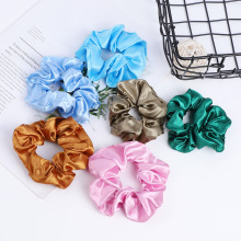 Get more info on the 10pcs Satin Scrunchies Elastic Hair Bands Solid Color Ponytail Holders Hair Ties Ropes Women Girls Hair Accessories Rubber Bands
