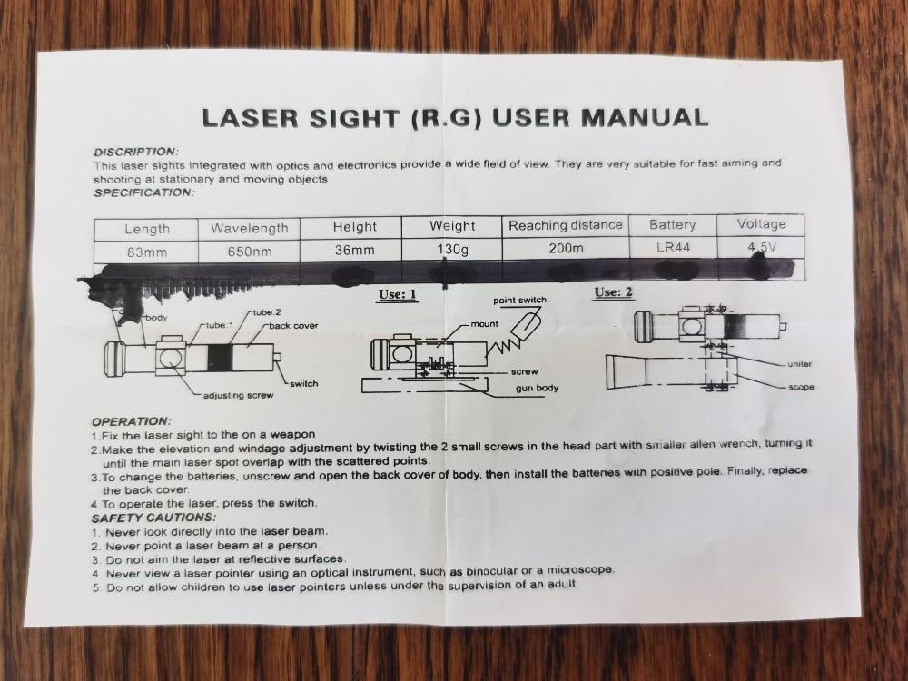 Snažni mini crveni točkasti laserski optički nišan tkač 11 / 20m - Lov - Foto 3