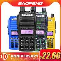 Baofeng UV-82 Walkie Talkie Dual PTT UV 82 Portable Two way Radio VHF UHF Ham CB Radio Station 1Pcs UV82 Jagd Transceiver