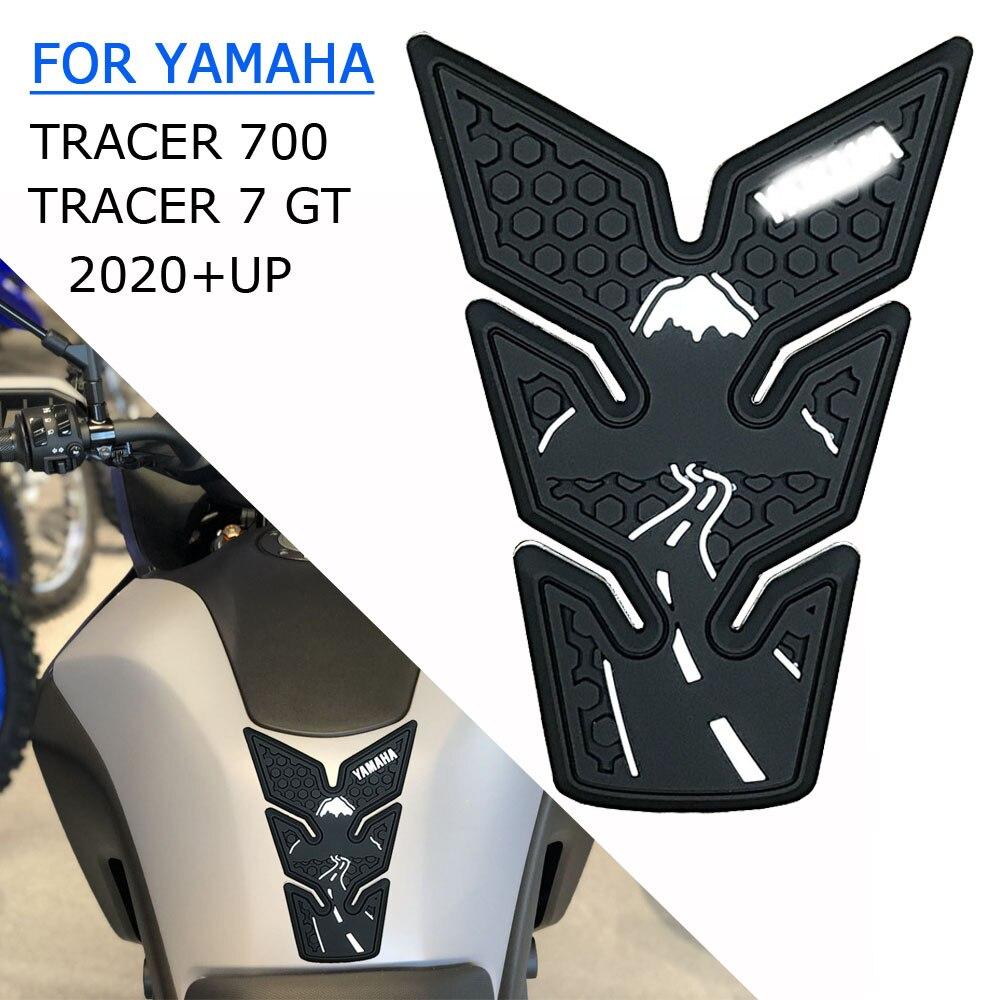 Для TRACER700 Tracer 700 Tracer 7 GT MT-07 2020 2021 мотоцикл Non-slip стороне наклейки для топливного бака Водонепроницаемый Pad резиновые наклейки