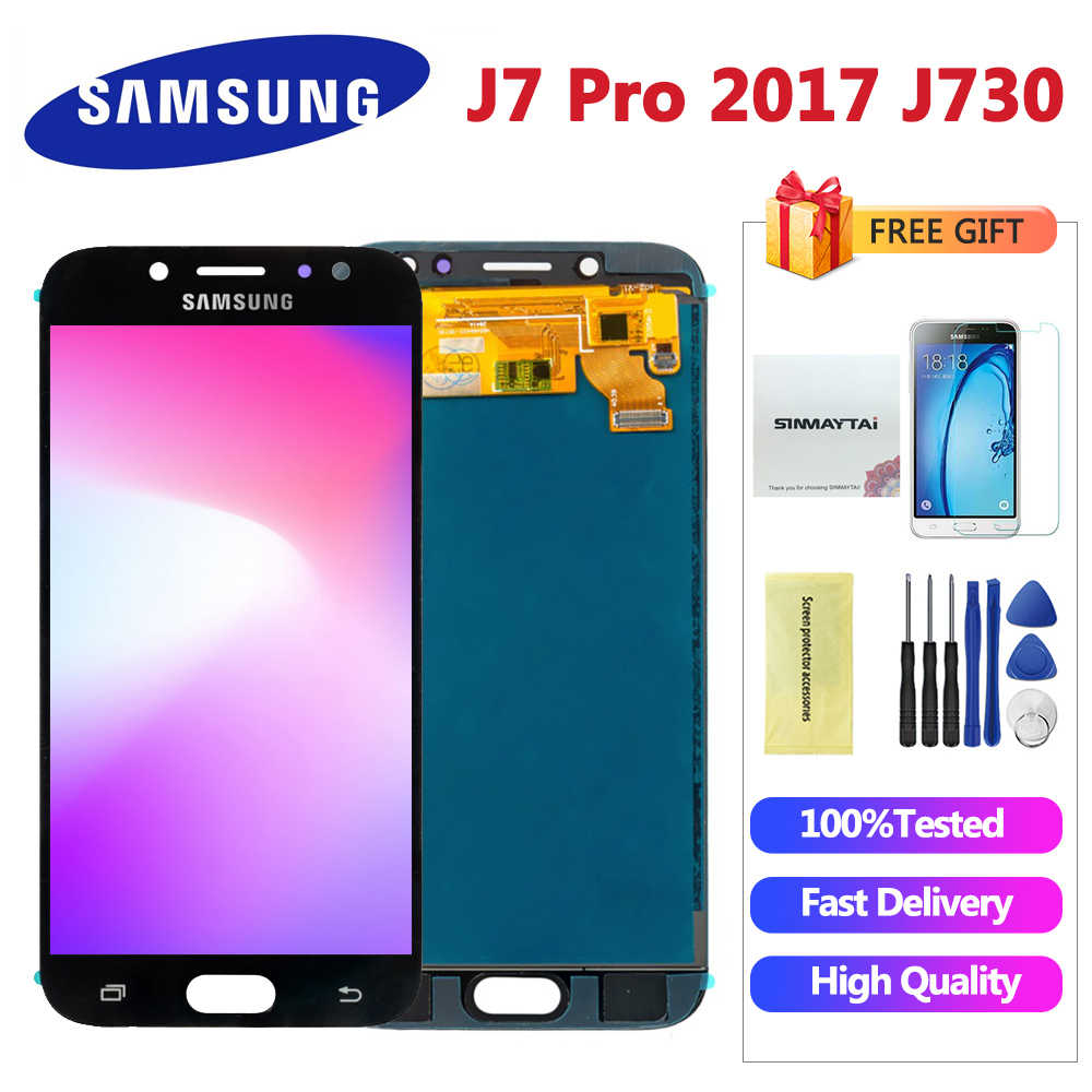 5,5 ''Für Samsung Galaxy J7 Pro 2017 J730 SM-J730F J730FM/DS J730F/DS J730GM/DS LCD display Touchscreen Digitizer Montage