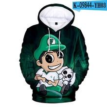 Moda venda quente impressão 3d fernanfloo hoodie feminino outono inverno moletom meninos meninas crianças bonito anime streetwear topos kawaii