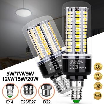AC85-265V 5W 7W 9W 12W 15W 20W LED Corn Lamp Bulb E27 220V LED Corn Light Bulb E27 Led Candle Light Bulb For Home D30 цена 2017