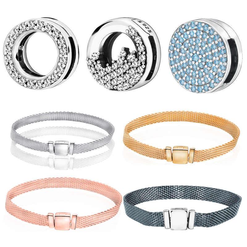 925 Sterling Silver Bracelet Bead Reflexion Icicles Clips Charms Fit  Original Pandora Bracelets Women DIY Fashion jewelry