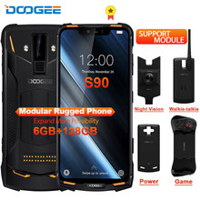 DOOGEE S90 IP68/IP69K Rugged Mobile Phone Fast Charge 6.18'' 19:9 Screen 5050mAh Octa Core 6GB 128GB Android 8.1 NFC Support(China)