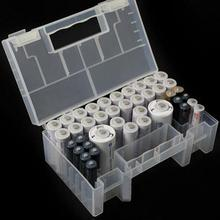 Battery Case Holder Storage Box Inner Compartment Anti Impact Large Capacity Clear Wear Resistant Practical Container AA AAA