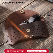 Handmade Cow Leather Eye Glasses Bag for Sunglasses Protector Case Protable Box For Eyeglass Storage PouchHolder Fashion