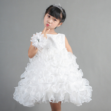 Cute Daily 2020 New Flowe Girl Holiday Party Dress Little Girls Layers Fashion Perform Birthday Dress Kids Sleeveless Ball Gowns цена 2017