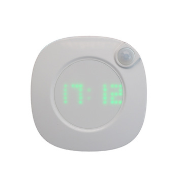 Dimmable Human Body Induction Clock Lamp with Gravity Induction