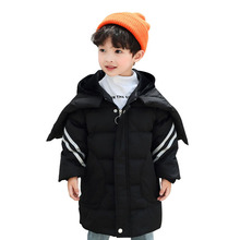 2019 New Girls Boys Winter Jacket Medium-Long Thicken Baby Coat Children's Clothes Kids Hooded Coats White Duck Down Outwear стоимость