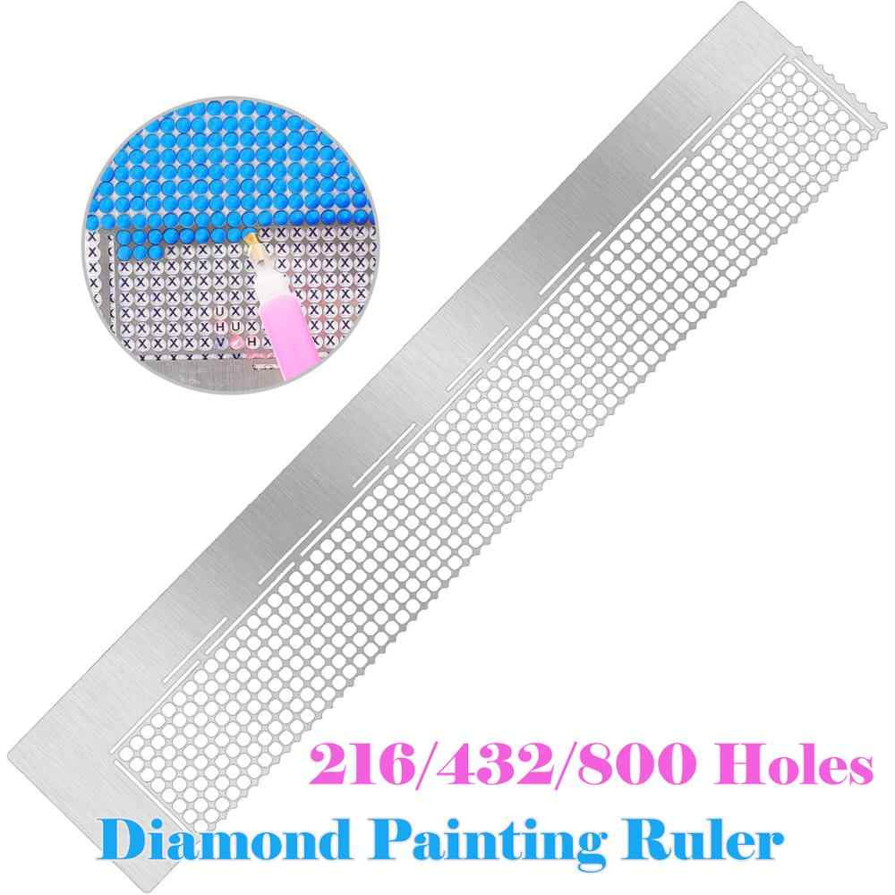 5D Diamond Painting Ruler Cross Embroidery Stainless Steel DIY Tool Full Drill C
