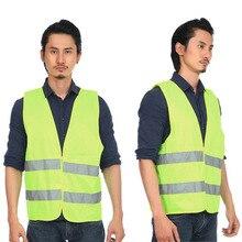 Светоотражающий жилет рабочая одежда высокая видимость для бега Велоспорт Предупреждение безопасности жилет флуоресцентный Открытый безопасности одежда