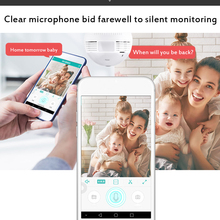 360 Degree WiFi Bulb Mini Camera 960P HD CCTV Panoramic Night Vision Motion Detection Home Surveillance Remote Monitor Micro Cam