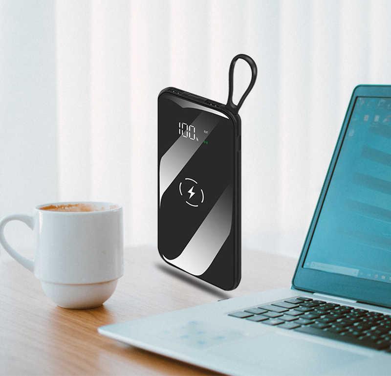 Banco de energía inalámbrico 30000 mAh impermeable USB Dual portátil para IPhone Xiaomi Huawei batería externa de carga rápida