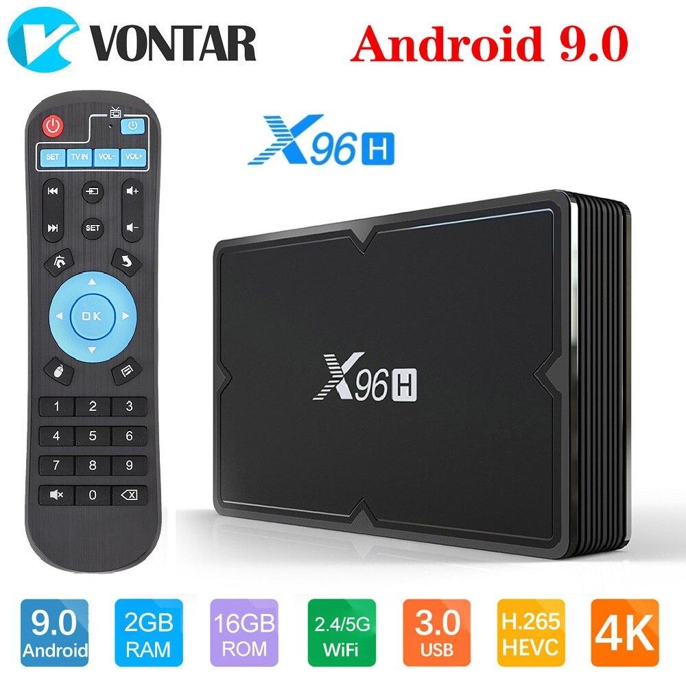 VONTAR X96H X96 CAIXA Smart TV mini Android 9.0 GB GB 32 64 4GB Allwinner H603 wi-fi 1080P K Netflix Youtube 2 4GB 16GB Set Top Box