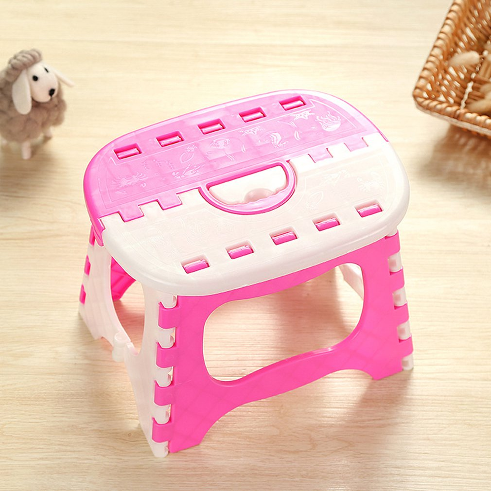 Folding Step Stool Lightweight Step Stool Mini Cartoon Safe Stool For Kitchen, Bathroom, Bedroom, Kids Or Adults