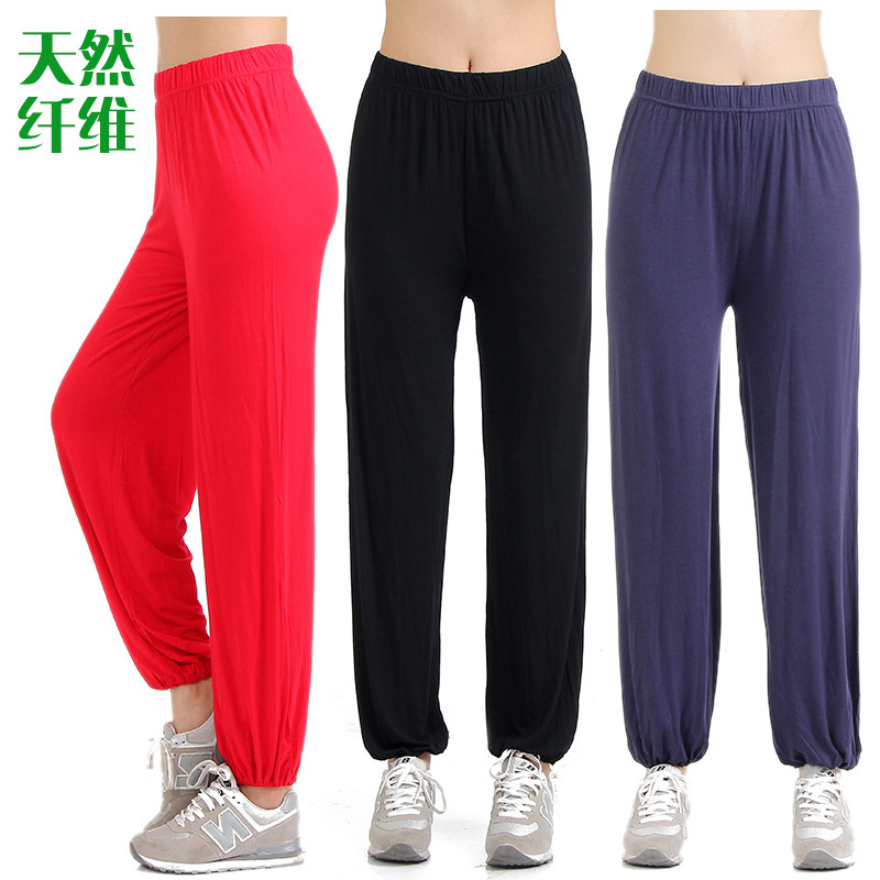 Spring And Summer Loose And Plus-sized Pure Cotton Modal Tai Chi Pants Harem Pants Square Dance Dancing Clothing Tai Chi Clothin