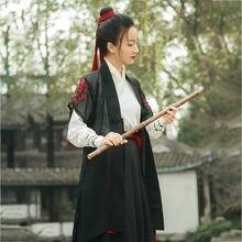 Chinês tradicional traje de dança feminino adulto oriental hanfu roupas lady tang dinastia palco cosply outfit antigo espadachim 90