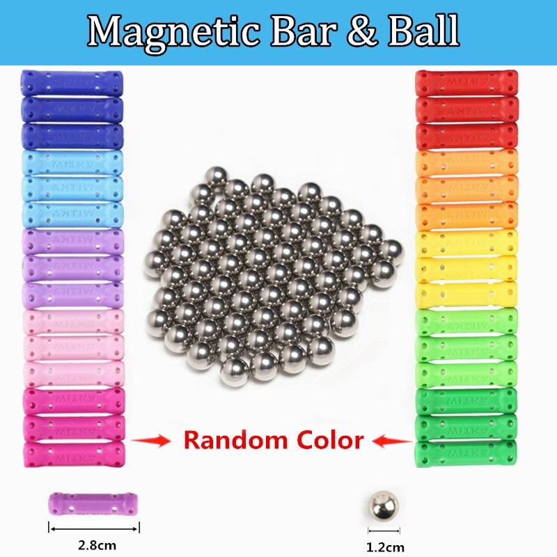 Barres magnétiques boules en métal blocs magnétiques ensembles modèle et bâtiment Construction concepteur jouets éducatifs pour les enfants