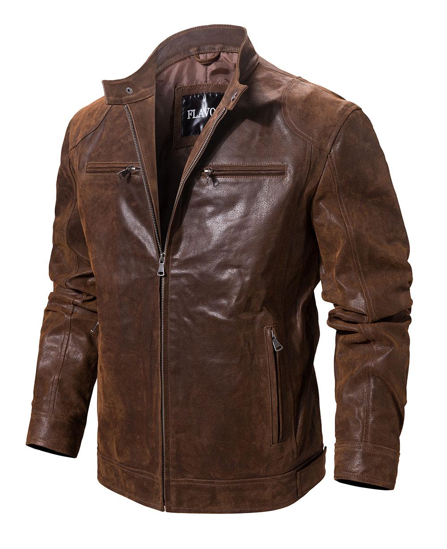 H230b111a997a43569071f526996e2e8au Men's Pigskin Real Leather Jacket Motorcycle Jacket Coat Men