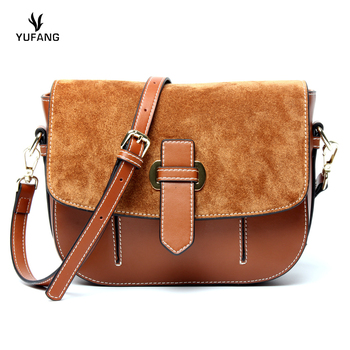 YUFANG Women Bag High Quality Cow Leather Messenger Bag Female Candy Color Trendy Ladies Crossbody Bag Daily Mini Women Bag