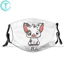 Boca de porco máscara facial moana pua o pote barriga porco máscara facial adorável adulto com 2 filtros kawai máscara
