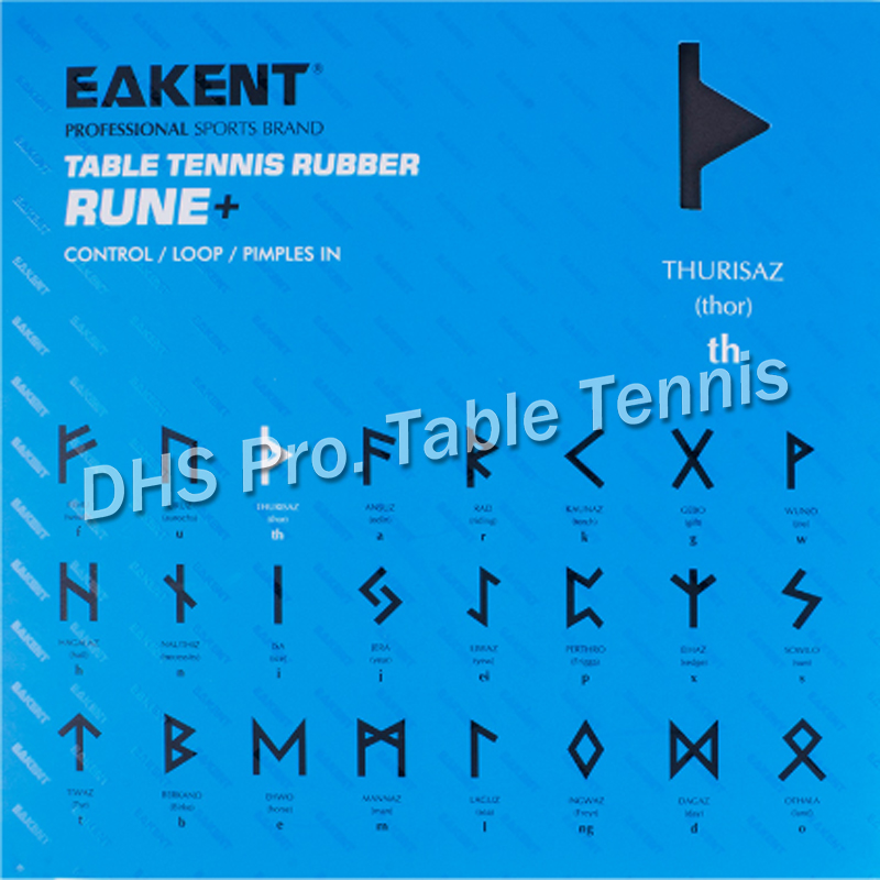 EAKENT Thurisaz Half Tacky Pips-In Table Tennis PingPong Rubber With Sponge 2.1mm