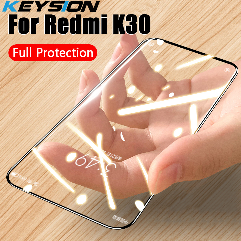 KEYSION Tempered Glass For Redmi K30 K20 Note 8T 8 Pro Screen Protector Phone HD Clear Full Cover Glass For Redmi 8 8A 7A Note 7