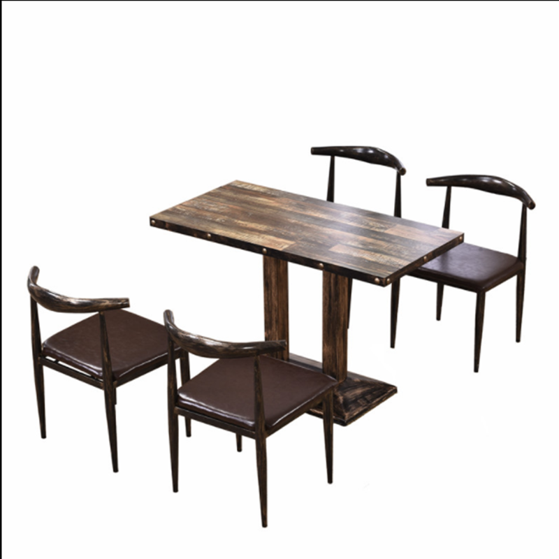 Dessert Milk Tea Shop Tables And Chairs Burger Cafeteria Snack Bar Cafe Restaurant Catering  Horn Chair Quick Dining T