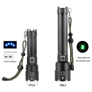 Image 2 - 2020 Mới XHP90.2 XHP70.2 Đèn Pin Led Chiến Thuật Đèn Pin Chống Nước Zoom Săn Bắn Đèn Cắm Trại Sạc 26650 Mạnh Mẽ Đèn Pin