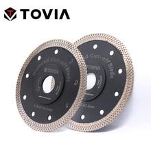 TOVIA 115mm/125mm 다이아몬드 원형 톱 블레이드 절단 화강암 석재 도자기 세라믹 타일 톱 디스크 얇은 톱날