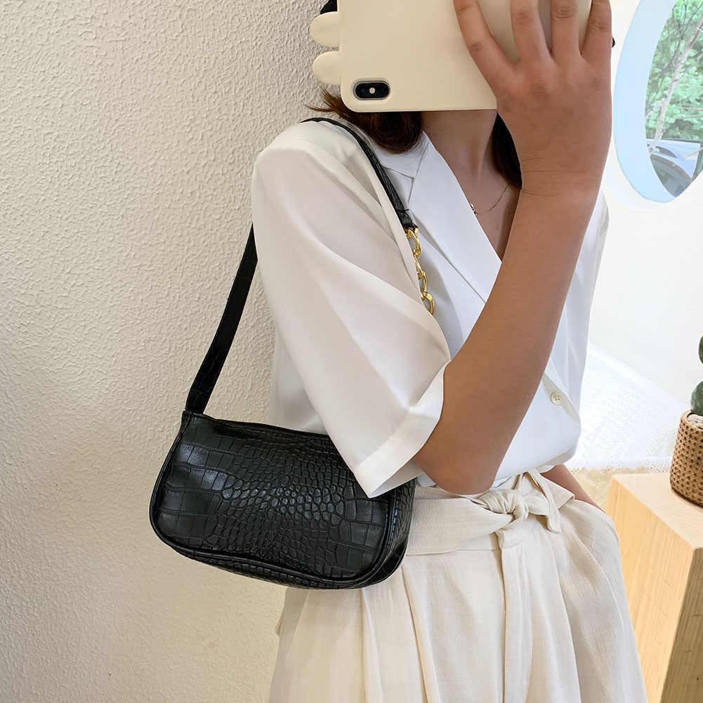 Elegantรักแร้สลิงกระเป๋าถือผู้หญิงสีPUหนังHoboไหล่กระเป๋าไหล่กระเป๋าMessenger