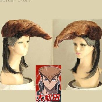 Парик из аниме Danganronpa v3 Mondo Owada, короткий темно-коричневый парик + парик