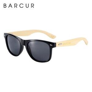 Image 5 - نظارة شمسية جديدة مستقطبة مصنوعة يدويًا من خشب البامبو من BARCUR نظارة شمسية للشاطئ للرجال والنساء تصلح كهدية