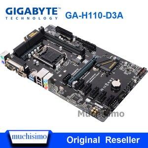 Материнская плата GIGABYTE для настольных ПК, H119, разъем LGA 1151, i3, i5, i7, DDR4, 32 ГБ, ATX, оригинальная, б/у, материнская плата