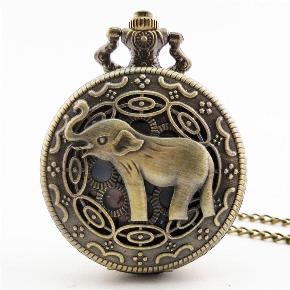 Unique Men Women Vintage Pocket Watch  Glass Watch Dial Necklace Pendant Clock Time With Chain Watch Decoration