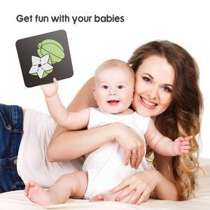 Image 4 - TUMAMA חזותי גירוי כרטיסי עם חיות כרטיסיות עבור 0 36 חודשים שחור לבן פלאש כרטיסי חידות תינוקות למידה כרטיס