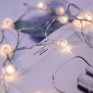 Image 5 - Светодиодная гирлянда с гипсофиловыми шариками, праздничное освещение, Сказочная гирлянда с аккумулятором для помещений, украшения для рождества, свадьбы, вечеринки