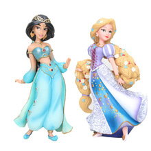 Princess posket anime jasmine tangled rapunzel cinderella puppet action toy figures model decoration lol for children funko pop