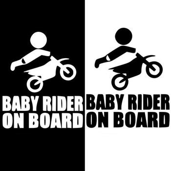Baby Rider On Board Words Sign Car Stickers Warning Cute Rear Window Decal image
