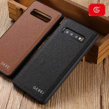 Luxury For Samsung Galaxy S10 Plus E Genuine Leather Case New Note10 10+ Phone Ultra thin Soft Shell Shockproof Protective Cases