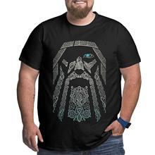 Kanpa 100% algodão 3d viking t camisas para grandes homens padrão roupas masculinas treino topos de grandes dimensões natal animal camiseta mais tamanho