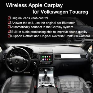 Image 2 - Joyeauto Apple Carplay inalámbrico Wifi para coche, para Volkswagen Touareg, 2010 2017, 8 pulgadas, Android Mirror, compatible con cámara delantera/trasera
